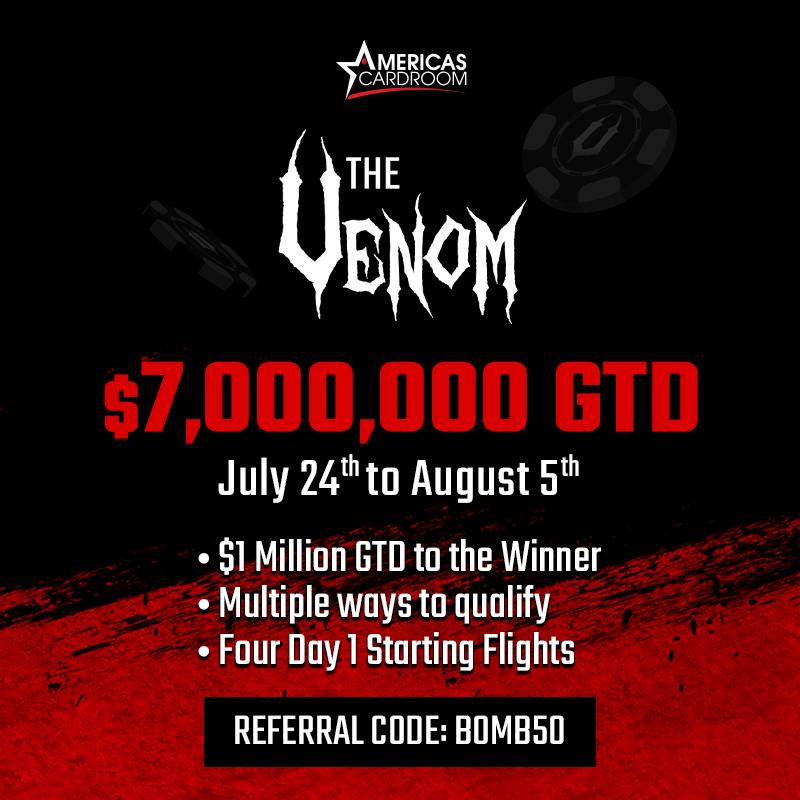Ways To Qualify For The $7 Million Venom – Americas Cardroom